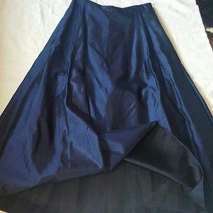 VTG CITY Navy Blue Satiny Crinoline Skirt 9/10